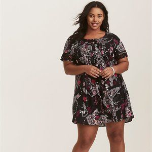 Torrid Floral Paisley Pink Tunic